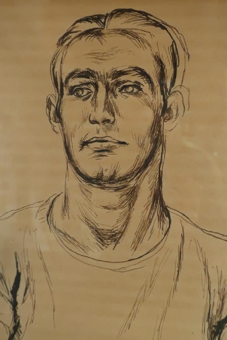 "Paul Cadmus 1904-1999 ""Albert"", Young Man Pen and Ink - 3"