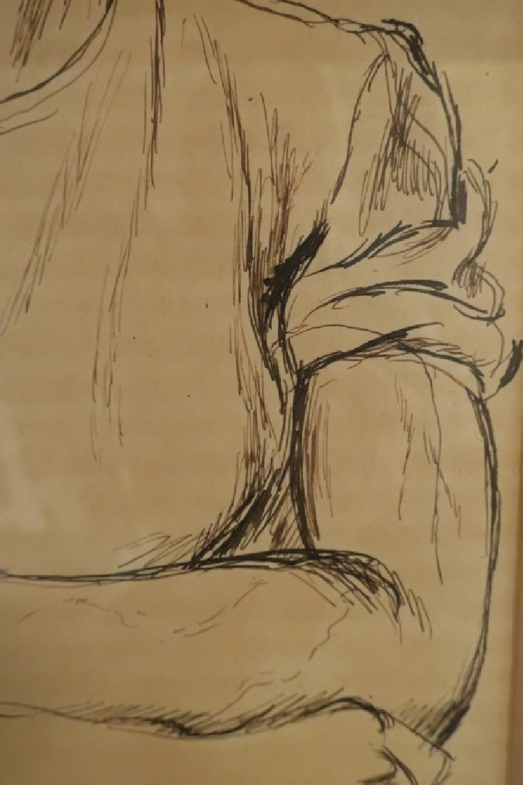 "Paul Cadmus 1904-1999 ""Albert"", Young Man Pen and Ink - 4"
