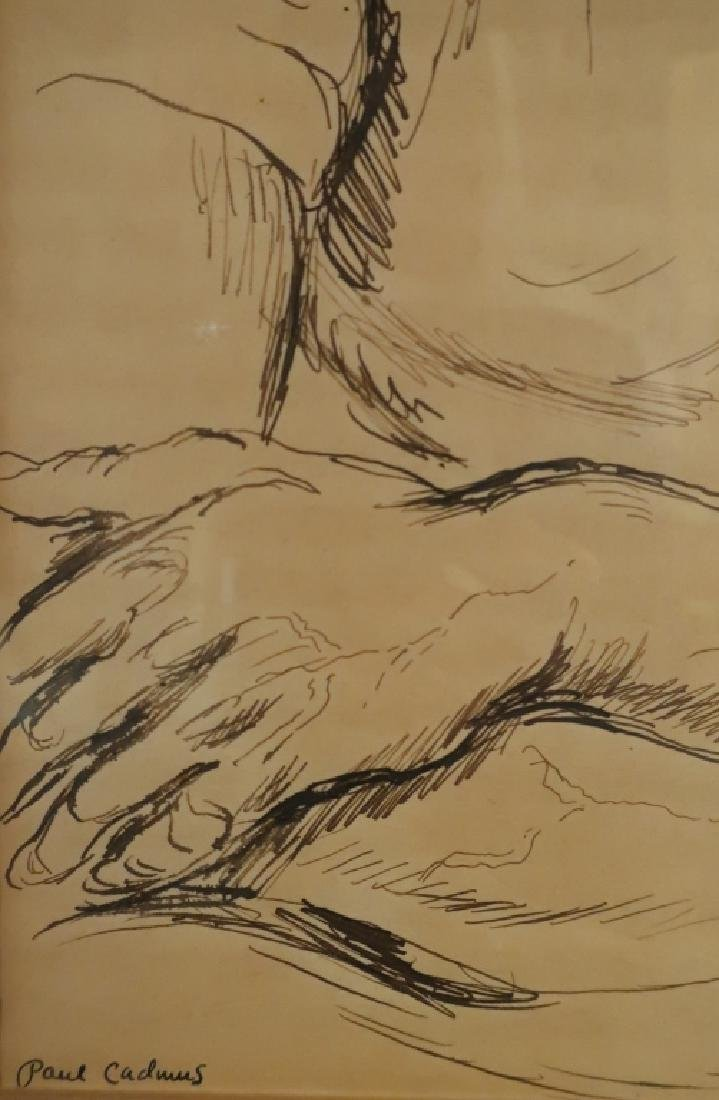 "Paul Cadmus 1904-1999 ""Albert"", Young Man Pen and Ink - 5"