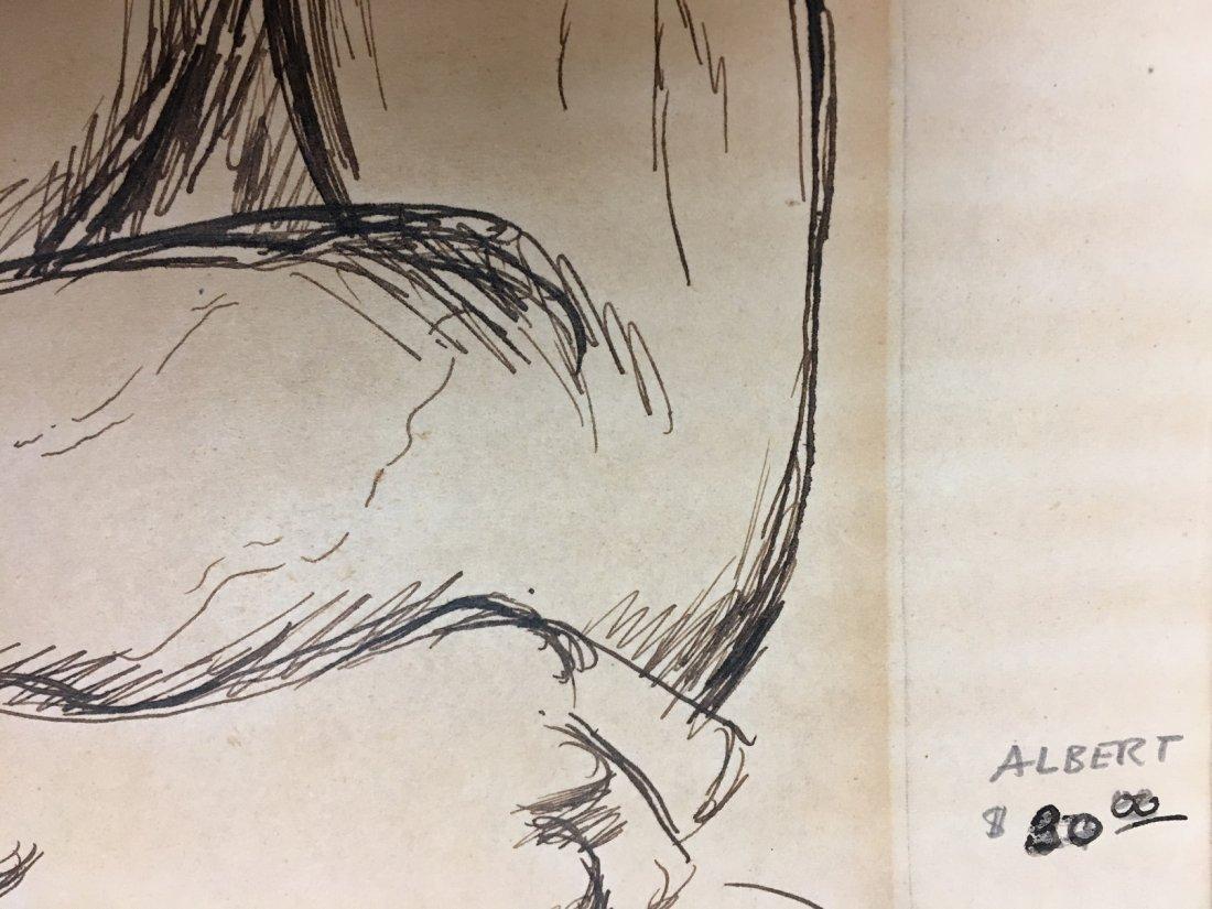 "Paul Cadmus 1904-1999 ""Albert"", Young Man Pen and Ink - 6"
