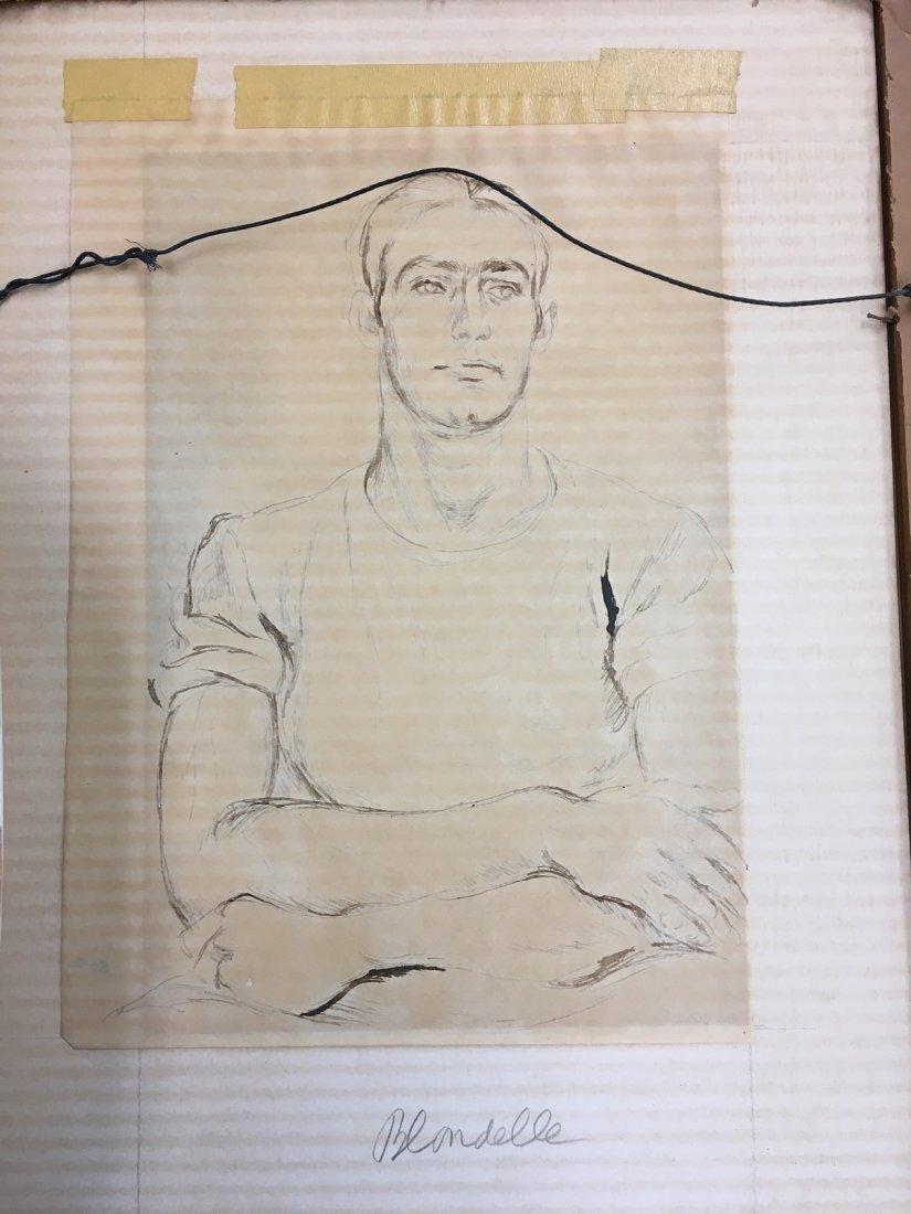 "Paul Cadmus 1904-1999 ""Albert"", Young Man Pen and Ink - 7"