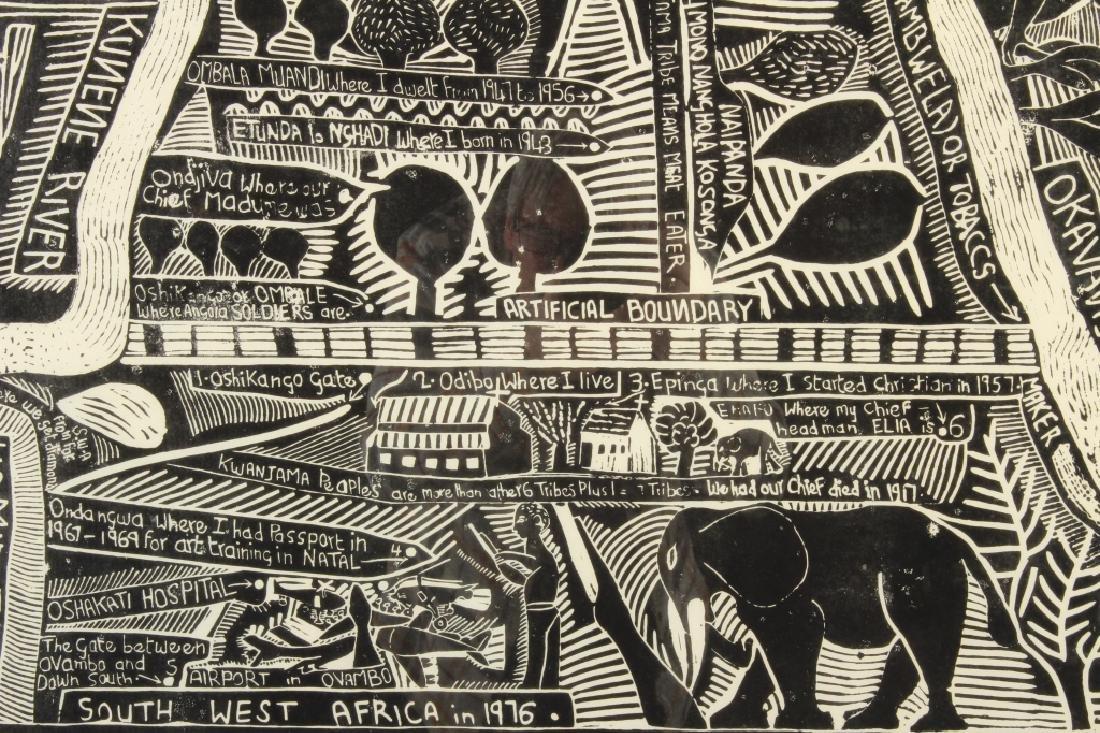 J. Muafangejo, Angola Lithograph, Signed - 2
