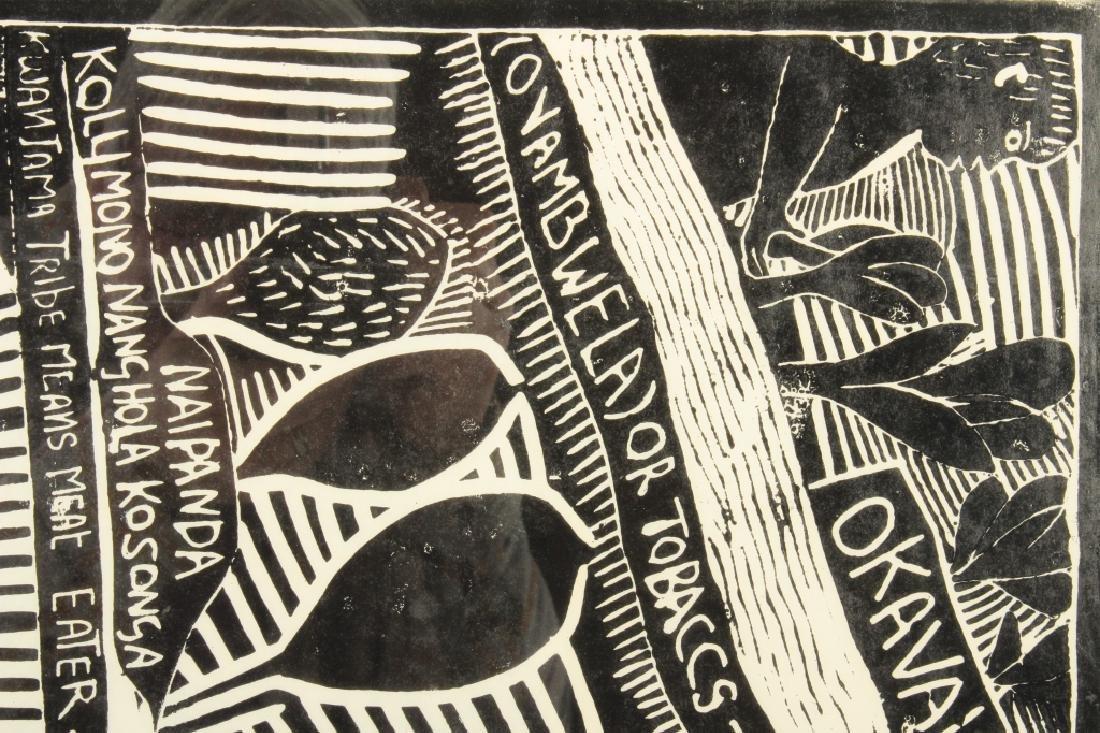 J. Muafangejo, Angola Lithograph, Signed - 3