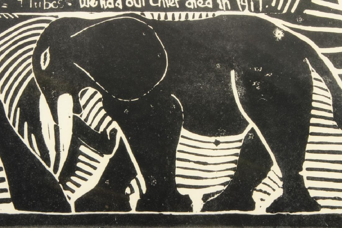 J. Muafangejo, Angola Lithograph, Signed - 6