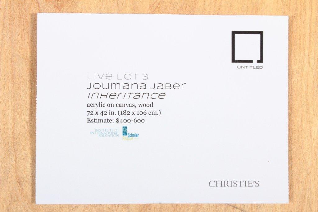 """Jumana Jaber, Syr., Contemp. """"Inheritance"""", M/M - 9"""
