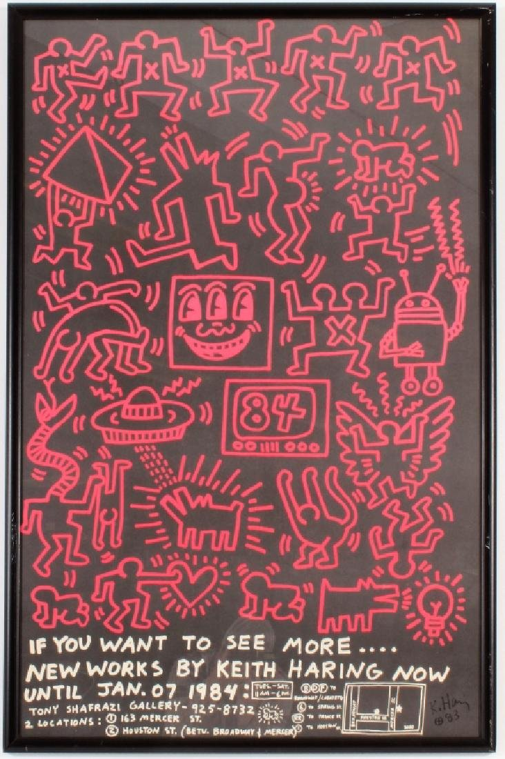 Keith Haring,1984 Exhibition Poster, signed