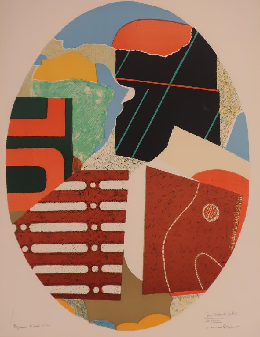 "Max Papart (Fr. 1911-1994) ""Egg"" Lithograph c.1980"