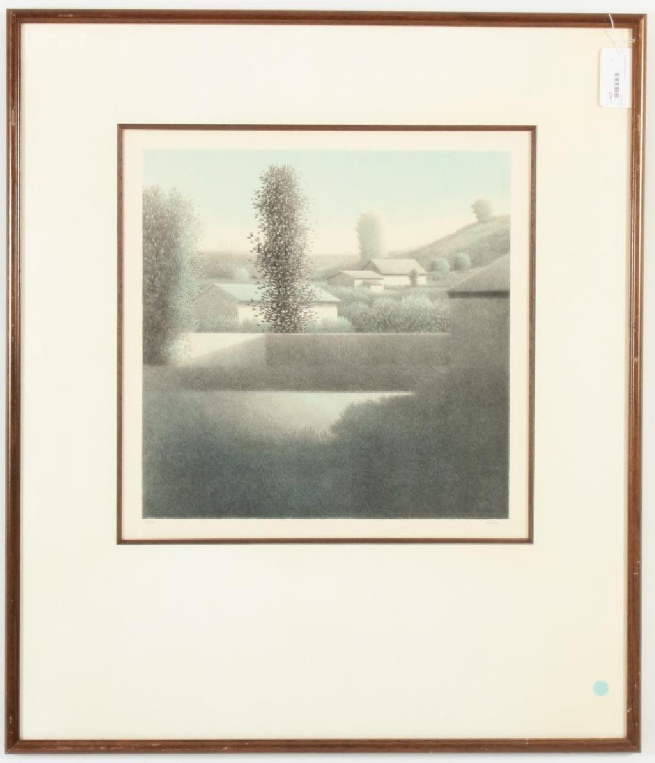 """Robert Kipness """"Green Green #502"""" Lithograph 1980s"""