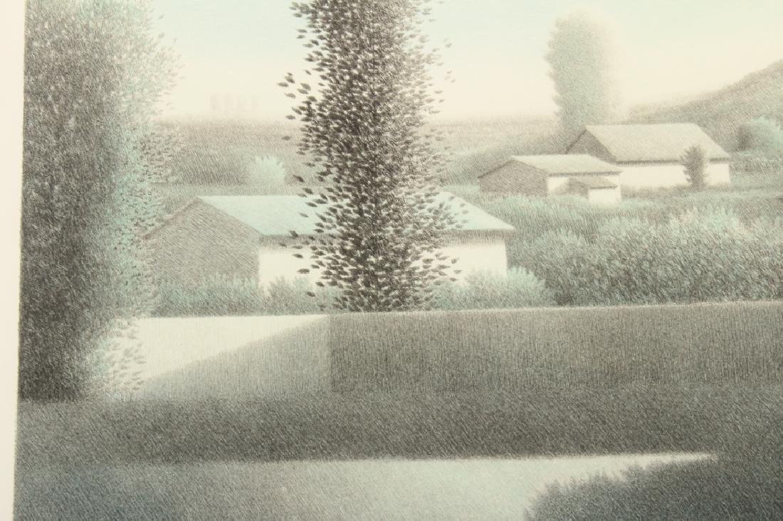 """Robert Kipness """"Green Green #502"""" Lithograph 1980s - 3"""