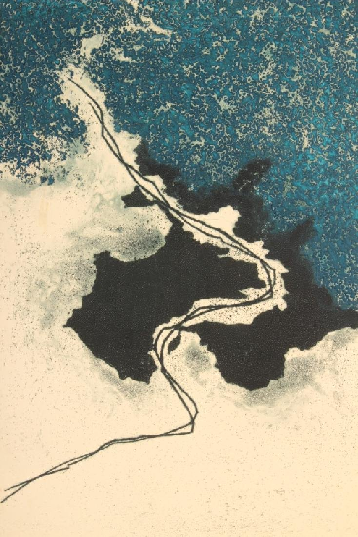 Yannick Ballif Fr. 1927-2009 Abstract Etching 1965
