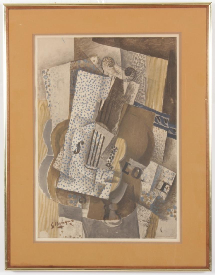 After Braque by Henri Deschamps, Color Lithograph