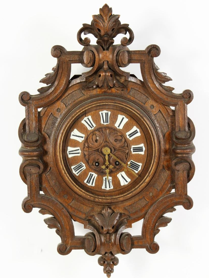 French Provincial Cartel Wooden Clock