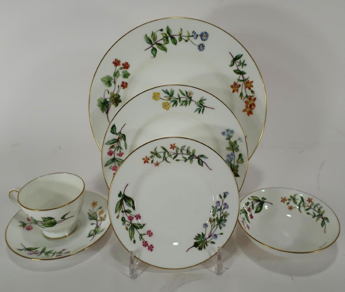 "Minton Porcelain Dinner Service, ""Meadow"" Pattern"