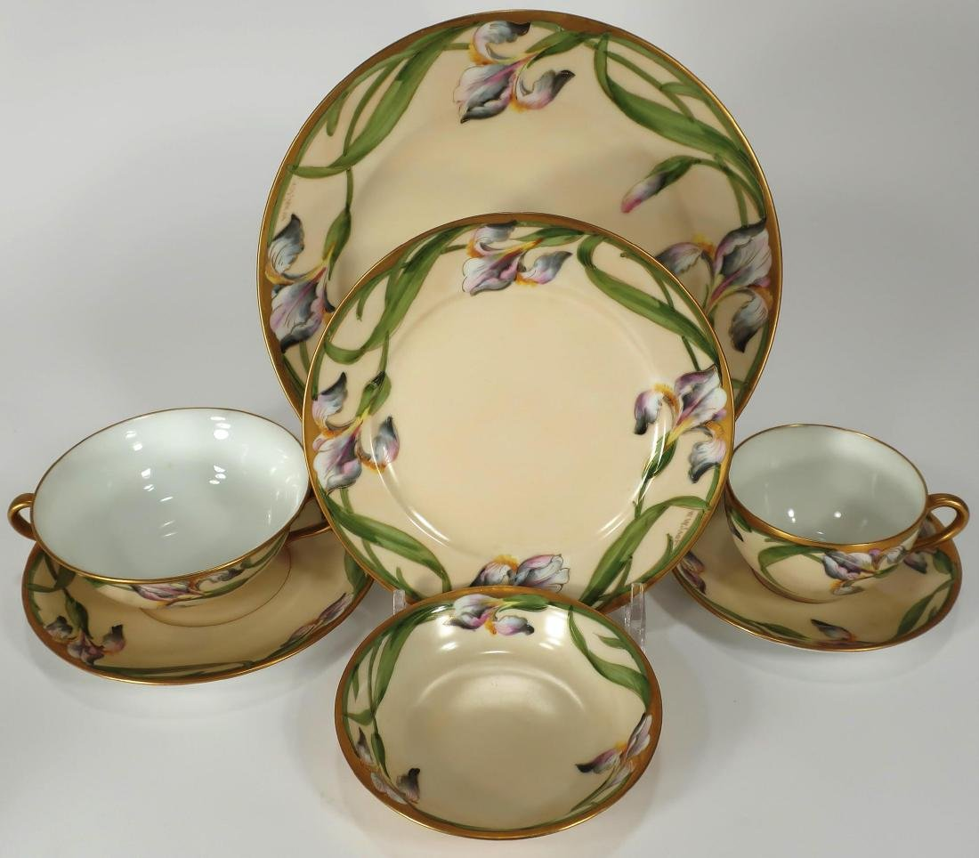 Lot of Walter Wilson Purple Iris Porcelain