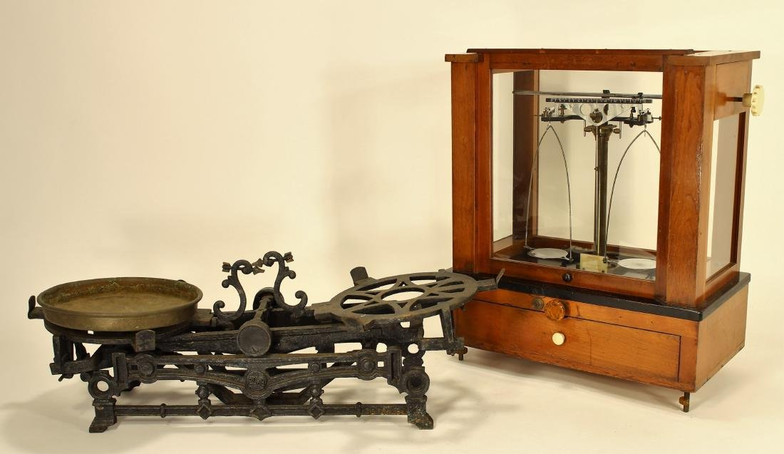 Two Vintage Scales, One Cased Voland