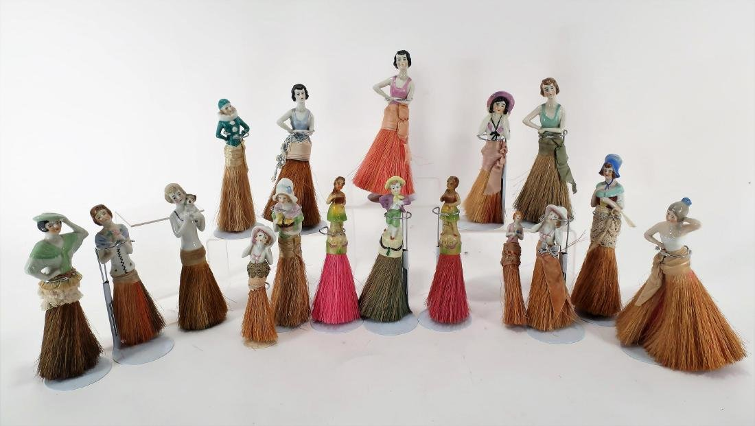 Antique & Vintage Porcelain Whisk Broom Dolls