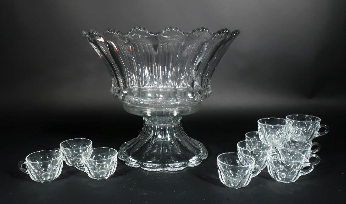 1 Vintage Heisey Punch Bowl with 11 Cups