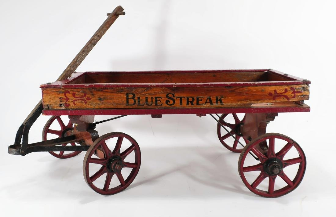 """Blue Streak"" Painted Wagon, E.20th C."