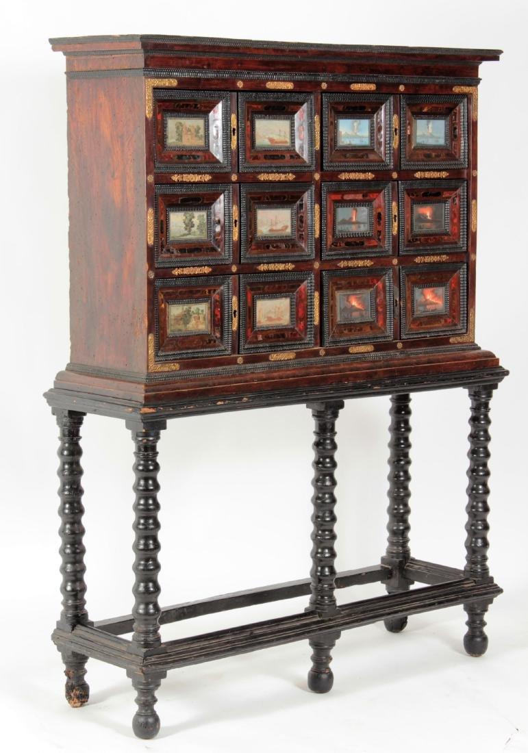 Neopolitan Walnut Cabinet with W/C Panels 18th c.