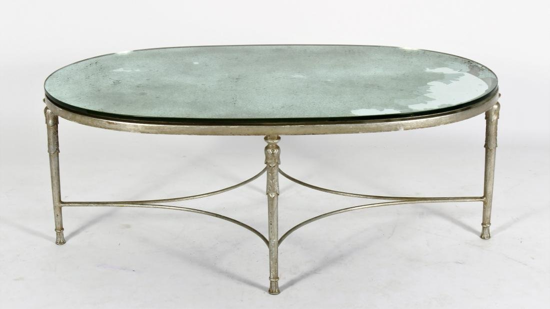Regency Style Painted Cast Iron Cocktail Table