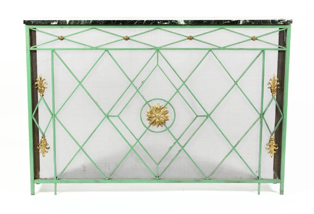 Architectural Steel/Marble Element Console Table