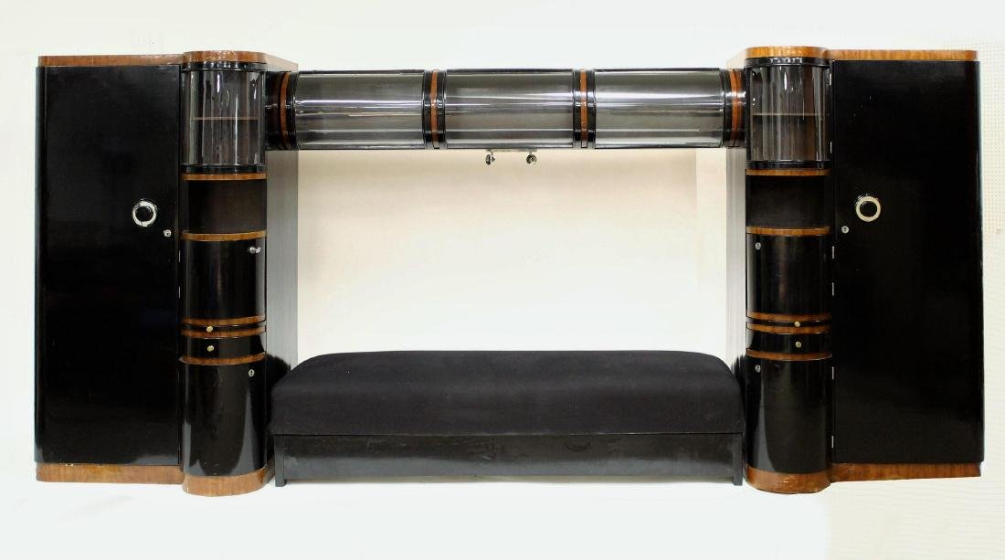 French Deco Twin Armoires fits a King Size Bed