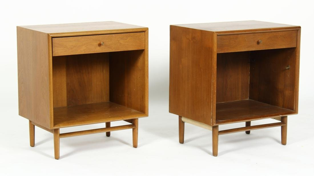 Pair Midcentury Walnut Side Tables by Drexel, 1960