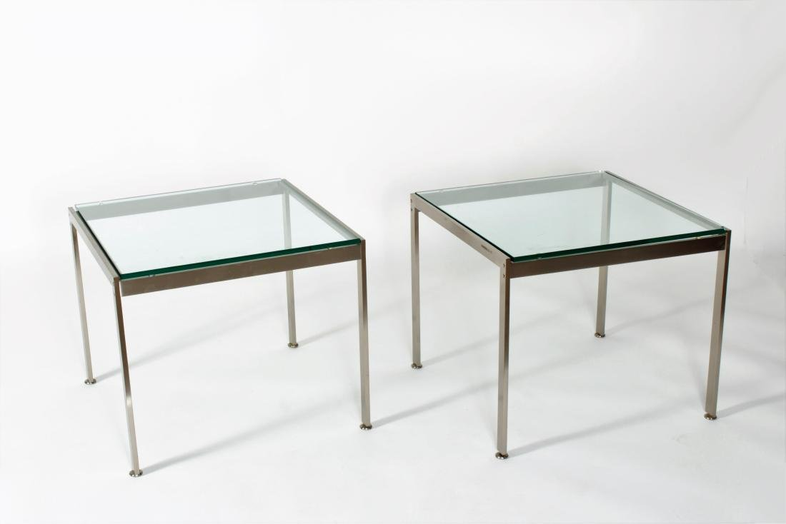 Pr. of Mid Century Modern Steel/Glass End Tables