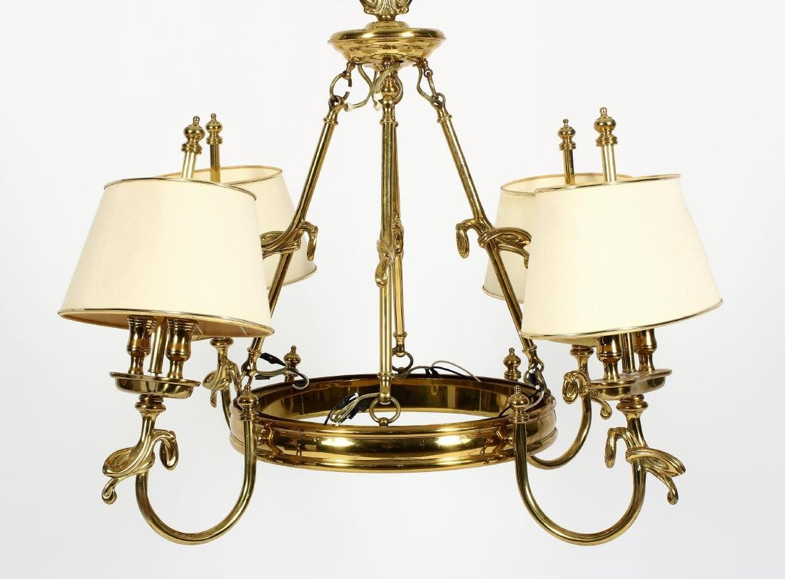 Georgian Style Six Arm Solid Brass Chandelier