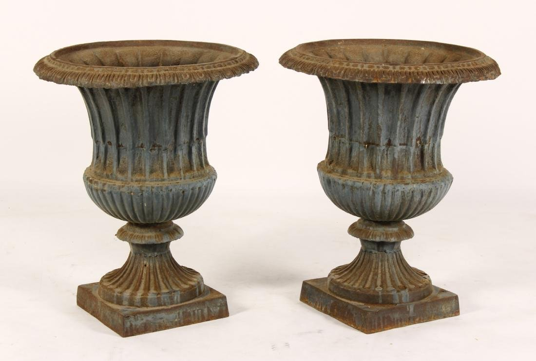 Pr. of Cast Iron Urns, c.1900