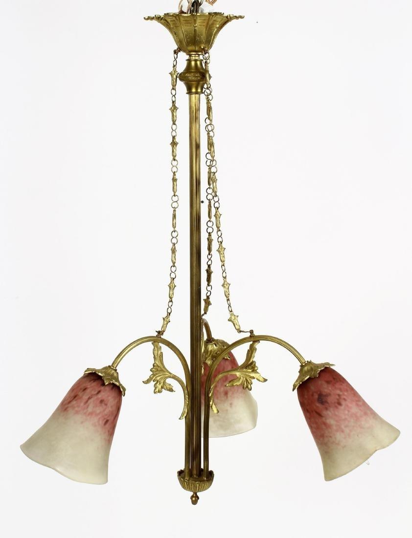 Art Nouveau Style Pendant Light Fixture