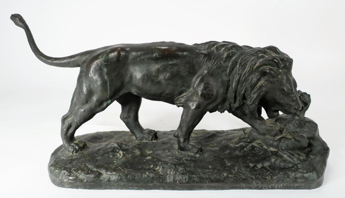 Antoine Bayre, Fr., 1795-1875, Bronze Lion