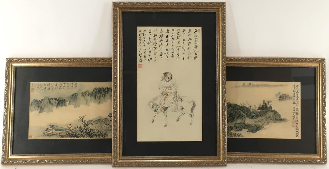 3 Traditional Chinese Prints, Possibly Hand-Signed