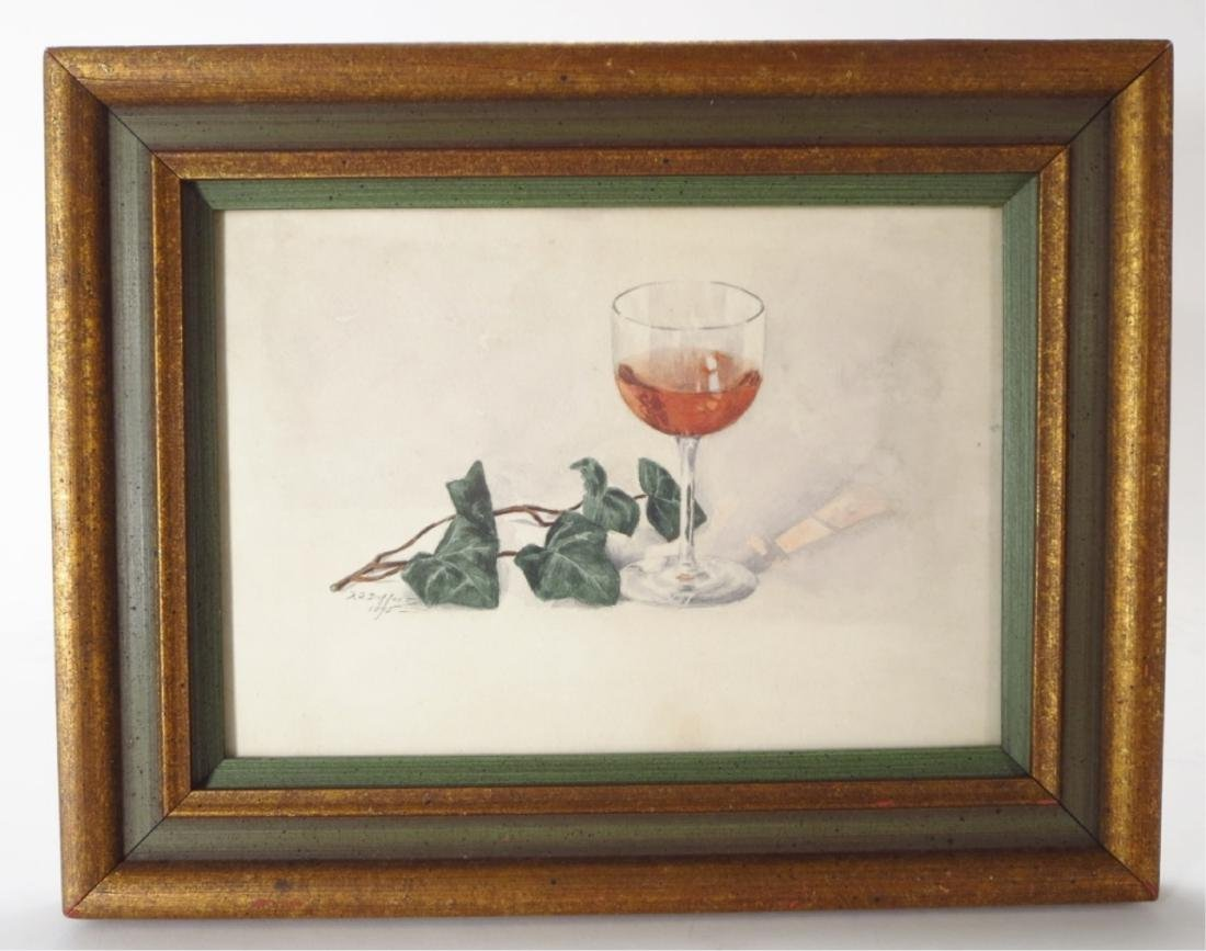 French School, Wine Goblet with Leaves, 1893, W/C