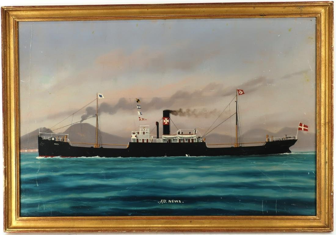 """""""S.S. Newa . ."""" Steam Ship O/B"""