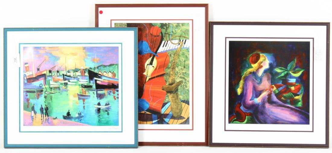 Group of 3 Prints; Off-Set Lithographs