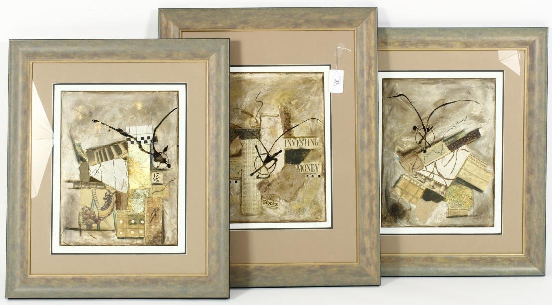 Cadillac Jones, 3 Artworks, mixed media