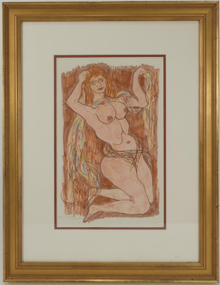 Frank Martin, Marker Drawing of Nude Woman, 1968