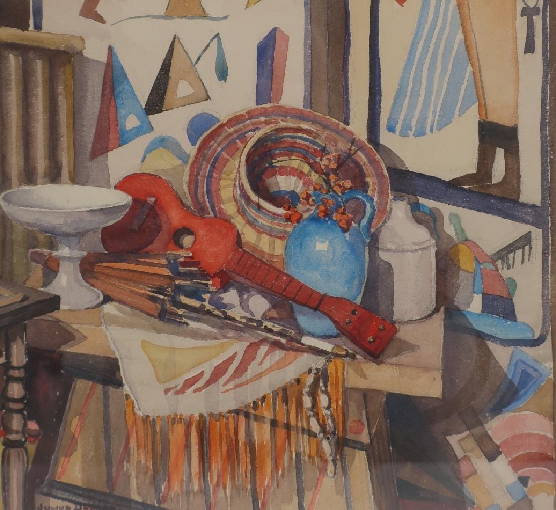 "Julius Delbos 1879-1970 ""Point / Counterpoint"" W/C"
