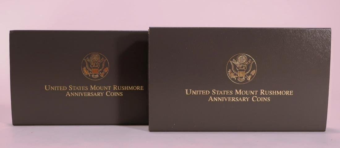 2 Sets of 1991 Mount Rushmore Gold & Silver Coins