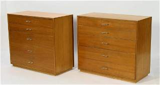 Pair of Herman Miller 5-Drawer Chest of Drawers