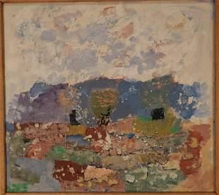 "Arnold Blanch ""Mountain Landscape"" O/B Woodstock"