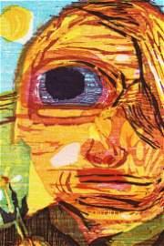 Dana Schutz b.1976, Untitled (One Eyed Girl) Print