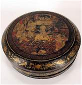 Chinese Export Lacquer Box with Cover, 19th C
