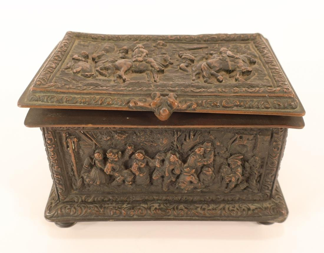 Renaissance Style Bronze Box