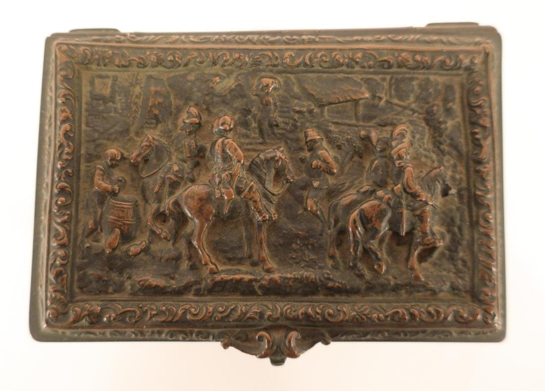 Renaissance Style Bronze Box - 2