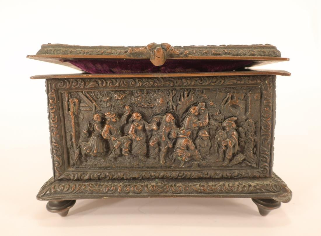 Renaissance Style Bronze Box - 3