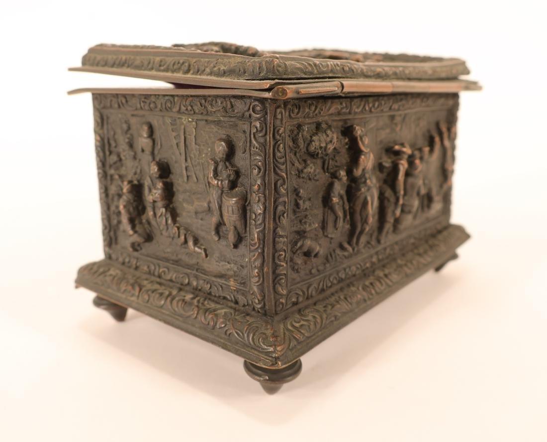 Renaissance Style Bronze Box - 4