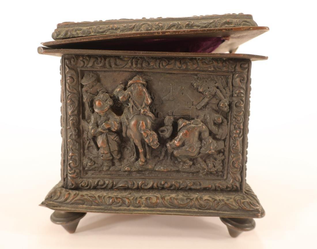Renaissance Style Bronze Box - 5