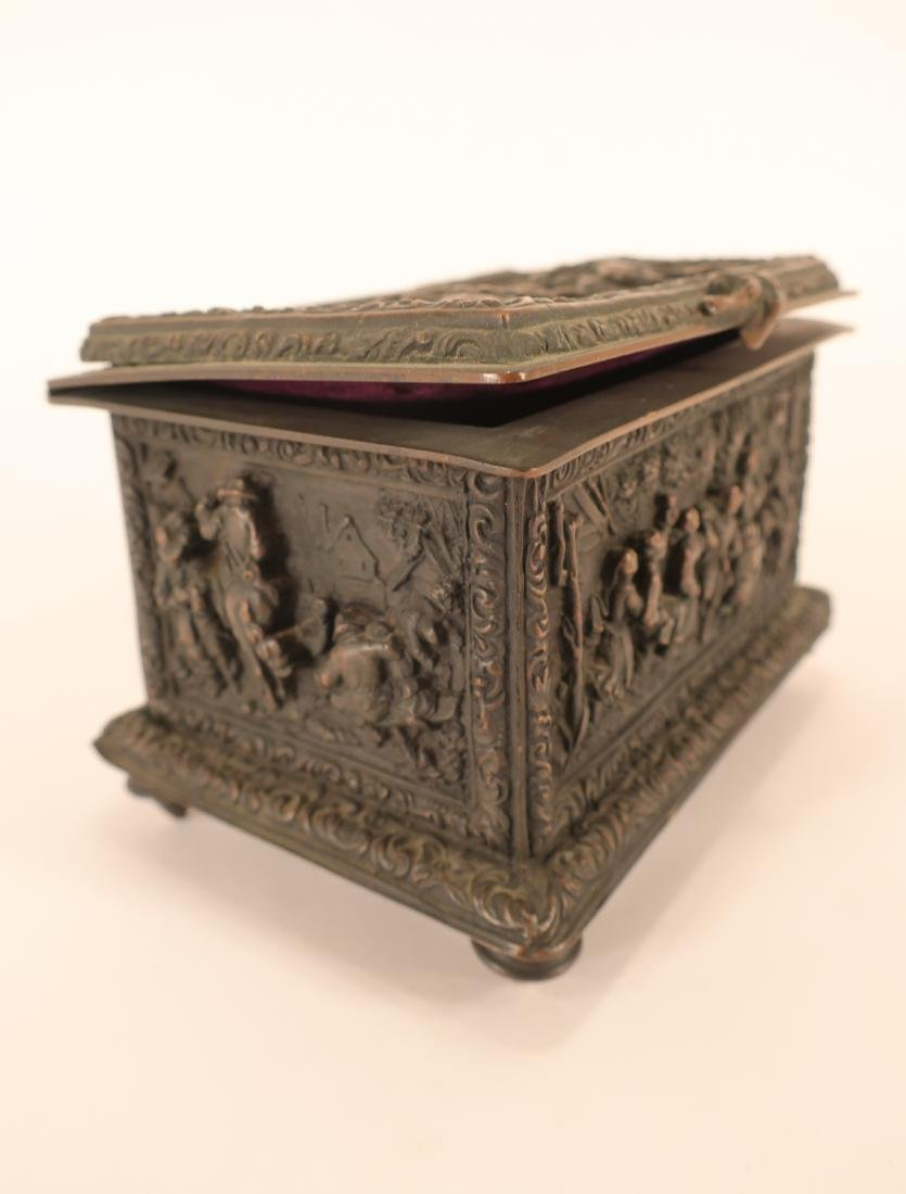 Renaissance Style Bronze Box - 7